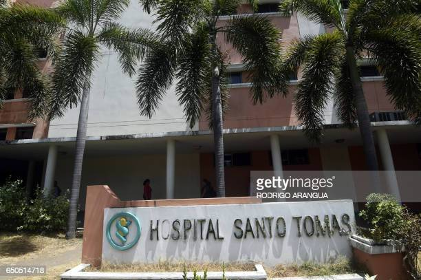 View of the Santo Tomas Hospital where former Panamanian military dictator Manuel Noriega underwent surgery to remove a benign brain tumor in Panama...