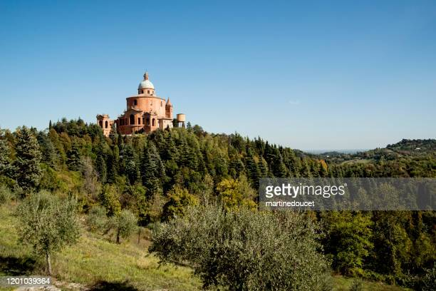 "view of the santuary of the madonna di san luca in bologna, italy. - ""martine doucet"" or martinedoucet stock pictures, royalty-free photos & images"