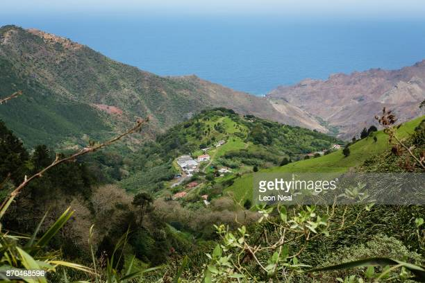 A view of the scenery on October 25 2017 in the Sandy Bay area Saint Helena Following the introduction of weekly flights to the island resident St...