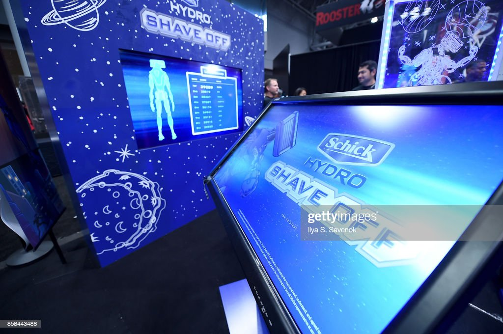 A view of the 'Schick Shave Off' video game by Schick Hydro At New York Comic-Con 2017 on October 6, 2017 in New York City.