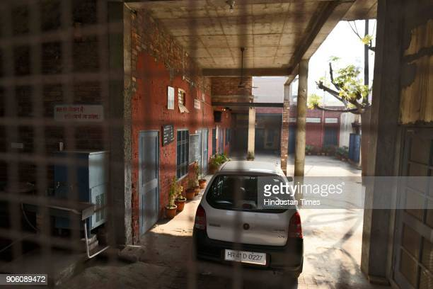 A view of the school where both the victims were studying at Jhansa Village on January 17 2018 in Jind India A Class 12 student is the prime suspect...