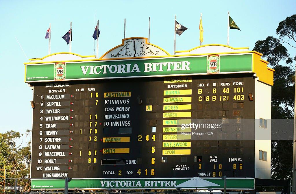 Australia v New Zealand - 2nd Test: Day 1 : News Photo