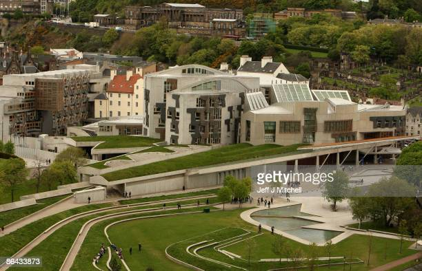 A view of the Scottish Parliament on May 6 2009 in Edinburgh Scotland Today marks the 10th anniversary of the first Holyrood election polling day...