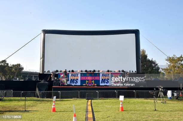 View of the screen at the 27th Annual Race To Erase MS: Drive-In To Erase MS at Rose Bowl on September 04, 2020 in Pasadena, California.