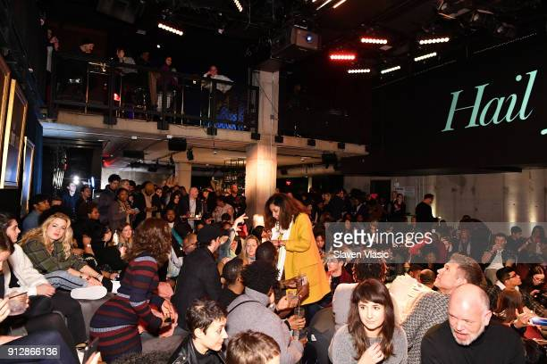 A view of the screening area at HBO's '2 Dope Queens' NYC slumber party premiere at Public Arts on January 31 2018 in New York City