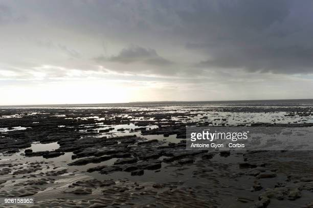 View of the sea during low tide of Chatelaillon Beach Chatelaillon is a commune located in the CharenteMaritime department in the southwest of France...