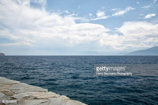 View of the sea from Nafplio, (Nauplia), Peloponnese, Greece