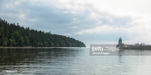 view of the sea - västra götaland county stock pictures, royalty-free photos & images