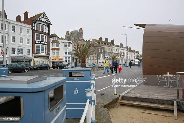 A view of the seafront on April 5 2014 in Weymouth England The Allied invasion to liberate mainland Europe from Nazi occupation during World War II...