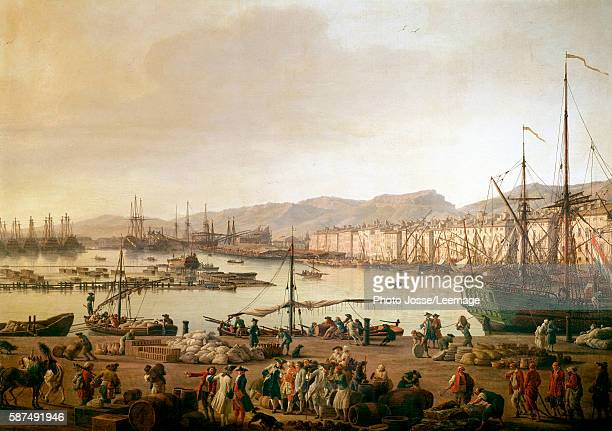 View of the SeaPort of Toulon Detail Painting by Joseph Vernet oil on canvas 1756 National Navy Museum Paris