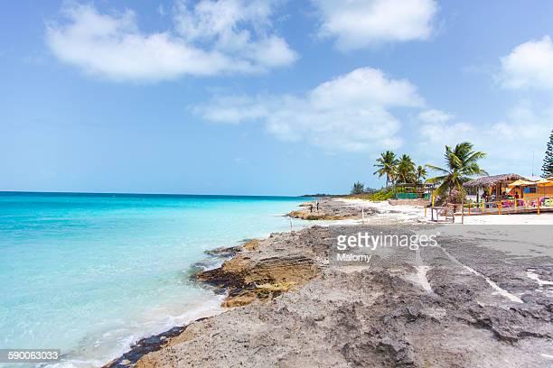 View of the seashore and ocean, Exuma, Caribbean