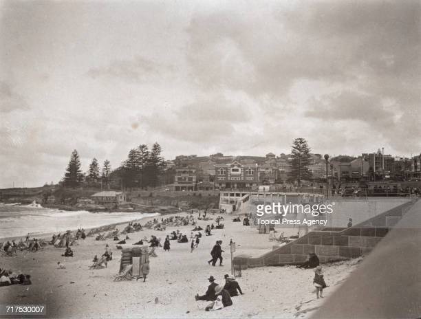 A view of the seaside resort of Coogee Beach near Sydney Australia circa 1929