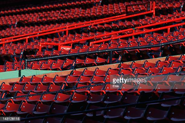 A view of the seats in the field level section before the game between the Baltimore Orioles and the Boston Red Sox on September 19 2011 at Fenway...