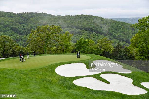 View of the second hole during the first round of the PGA TOUR Champions Bass Pro Shops Legends of Golf at Big Cedar Lodge at Top of the Rock on...