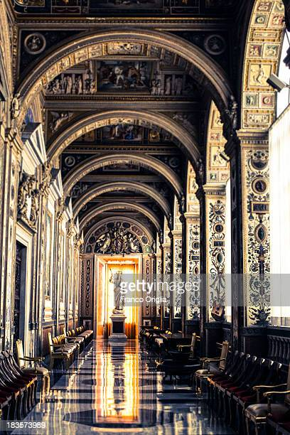 A view of the Second Lodge of the Apostolic Palace on October 7 2013 in Vatican City Vatican After the success of his Social networking accounts of...