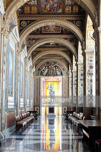 A view of the Seconda Loggia of the Apostolic Palace is seen during the audience of Benedict XVI to the president of the Republic of Macedonia Gjorge...