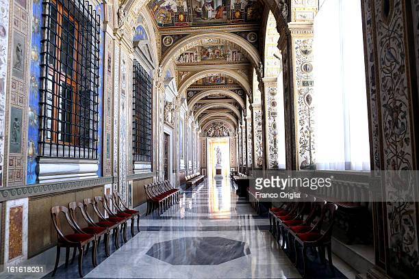 A view of the Seconda Loggia of the Apostolic Palace on October 25 2012 in Vatican City Vatican Pope Sixtus V built the Apostolic Palace where the...