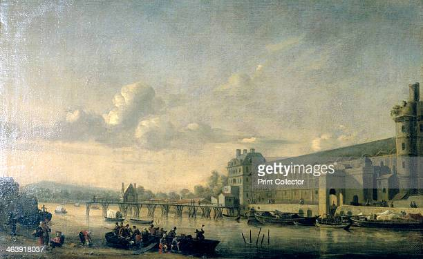 'View of the Seine with the South Facade of the Louvre Gallery' Paris 1660 From the Musee du Louvre Paris