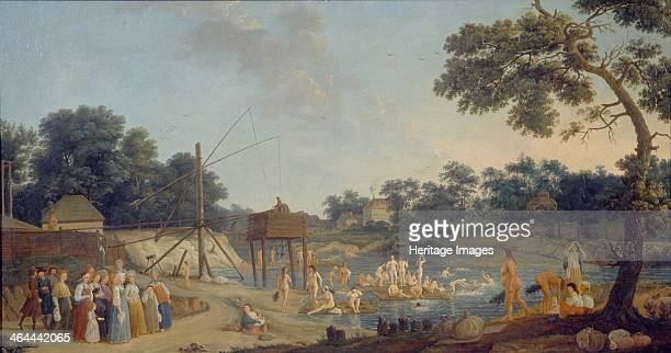 View of the Serebryanichesky Bath Houses in Moscow 1796 Found in the collection of the State Russian Museum St Petersburg