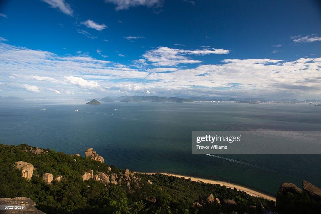 A view of the Seto Inland Sea from Ojigadake : Stock Photo