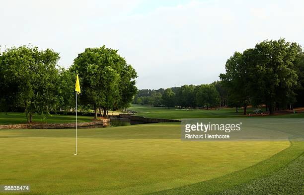 View of the seventh green during Quail Hollow Championship at Quail Hollow Country Club on May 1, 2010 in Charlotte, North Carolina.