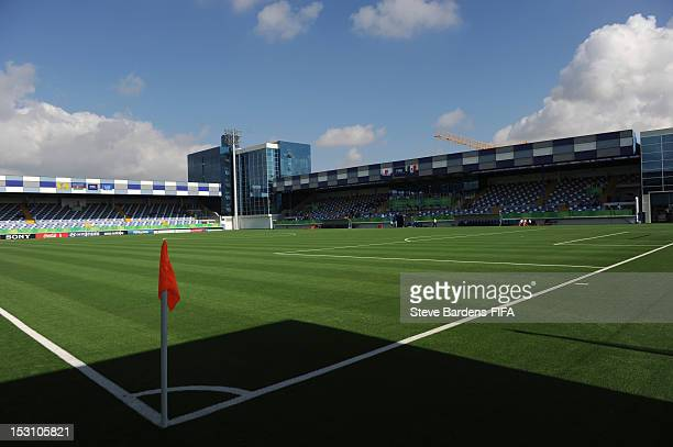 View of the Shafa Stadium before the FIFA U17 Women's World Cup 2012 group C match between Japan and Mexico at Shafa Stadium on September 30 2012 in...