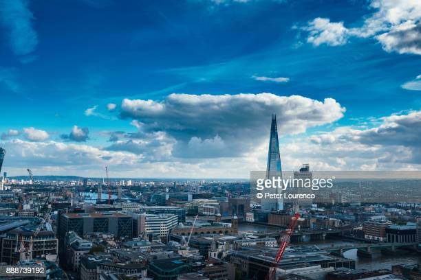view of the shard from across the river thames. - peter lourenco imagens e fotografias de stock
