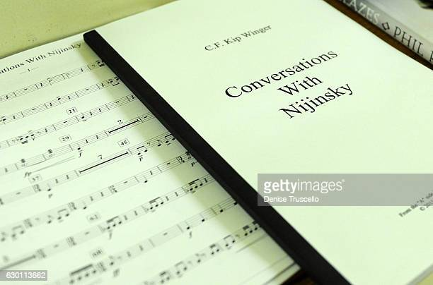 A view of the sheet music for Conversations With Nijinsky by Kip Winger on December 16 2016 in Oberlin Ohio