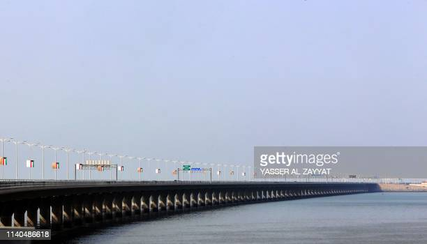 A view of the Sheikh Jaber causeway in Kuwait City on May 1 2019 Kuwait today inaugurated one of the world's longest causeways linking the oilrich...