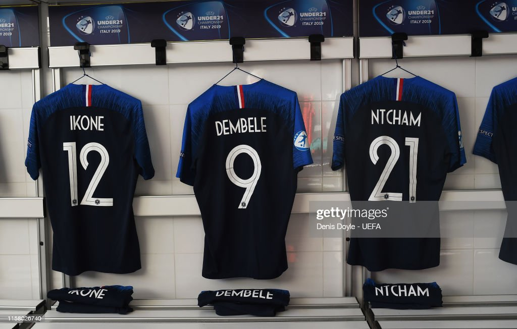 separation shoes d9b98 d73df View of the shirt of Jonathan Ikone, Moussa Dembele and ...