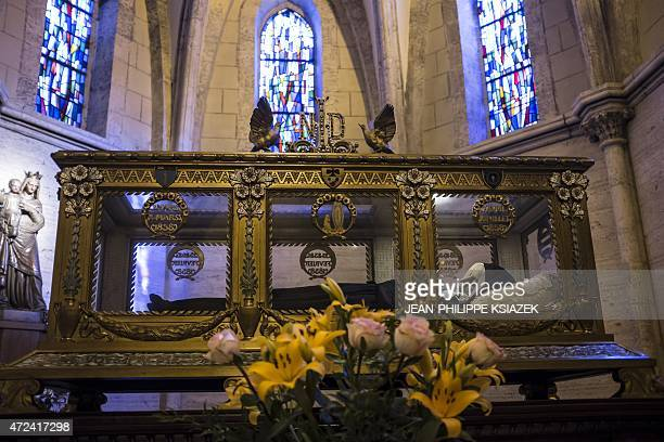 A view of the shrine in the chapel of the Convent of St Gildard of Nevers where the body of Marie Bernarde Bernadette Soubirous known as St...
