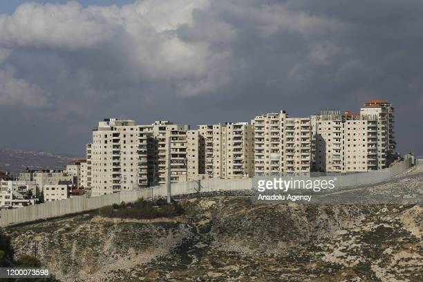 View of the Shu'fat Palestinian refugee camp, separated with a wall from East Jerusalem, on January 30, 2020 in Jerusalem.