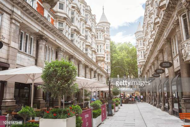 view of the sicilian avenue in london - holborn stock pictures, royalty-free photos & images