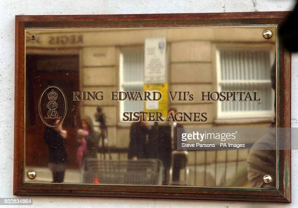 View of the sign outside the King Edward VII hospital central London where the Duchess of Cornwall has been admitted prior to her hysterectomy...