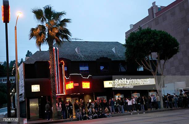 A view of the signage and crowd during AOL Music Live with Fall Out Boy at the Roxy Theatre on February 10 2007 in Los Angeles California