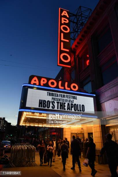 "View of the signage at the ""The Apollo"" screening during the 2019 Tribeca Film Festival at The Apollo Theater on April 24, 2019 in New York City."