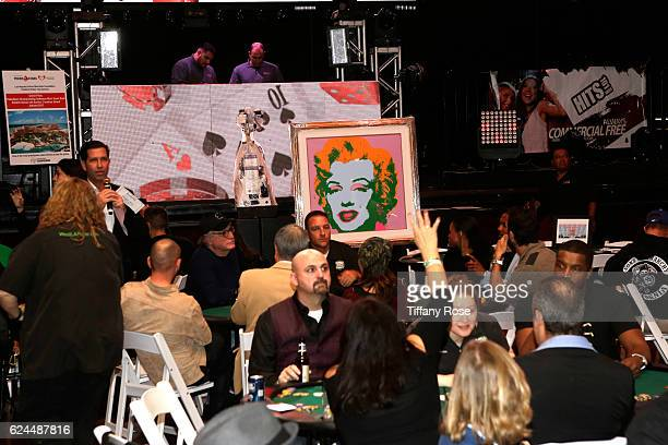 View of the silent auction during the Los Angeles Police Memorial Foundation Celebrity Poker Tournament and Party held at Avalon Hollywood on...
