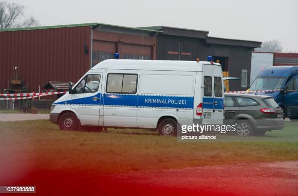 A view of the site cordoned off by police in the Spreewald town of Neu Luebbenau Germany 04 December 2014 A deadly reltionship drama has alledgedly...