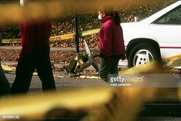 View of the site where American Airlines Flight 587 crashed into a residential neighborhood in Queens Photo by Mark Peterson/Corbis SABA