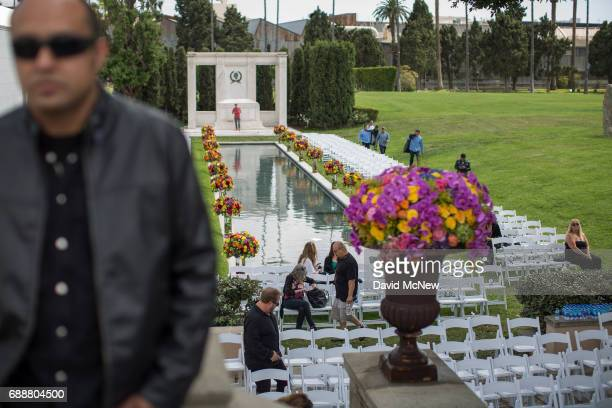 A view of the site where funeral services for Soundgarden frontman Chris Cornell were held at Hollywood Forever Cemetery on May 26 2017 in Hollywood...