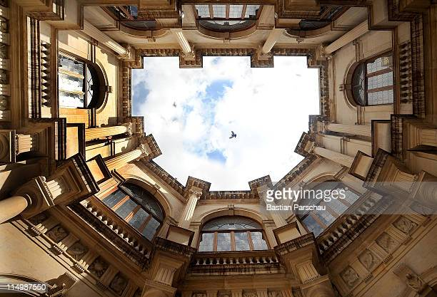 A view of the sky from the Loggia atrium an old Venetian building on May 11 2009 in Heraklion Greece