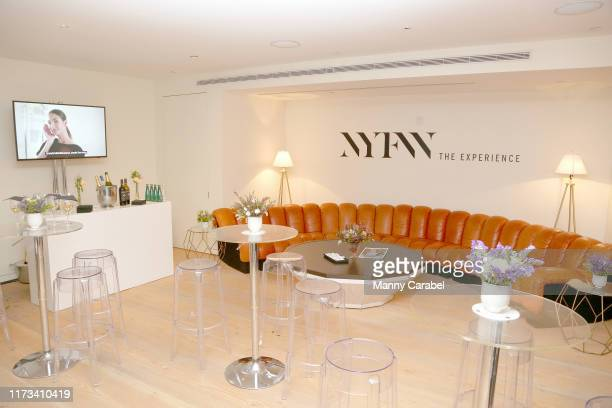 View of the Skybox lounge above Gallery II at Spring Studios during New York Fashion Week: The Shows on September 09, 2019 in New York City.