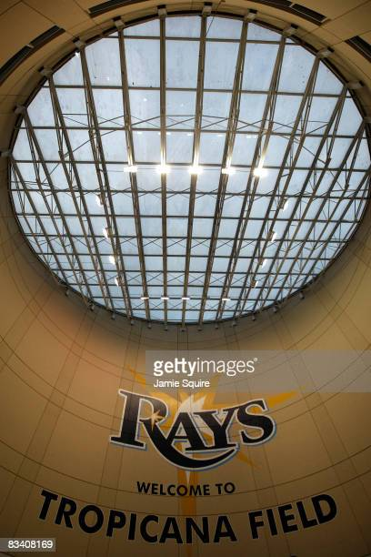 View of the skylight inside a stadium entry way is seen prior to game two of the 2008 MLB World Series between the Philadelphia Phillies and the...