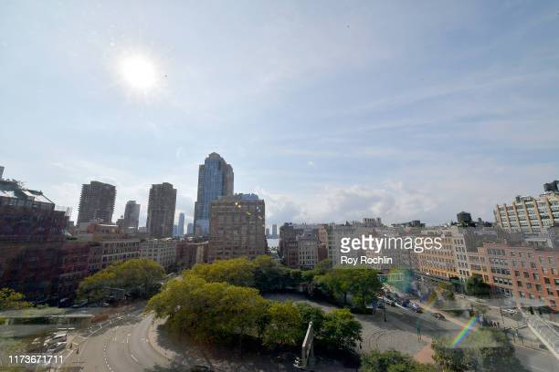 View of the skyline from Gallery I during New York Fashion Week: The Shows - Day 7 at Spring Studios on September 10, 2019 in New York City.