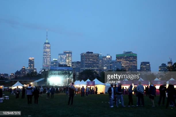 View of the skyline from Pitchfork And October Present OctFest 2018 at Governors Island on September 8, 2018 in New York City.