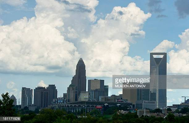 A view of the skyline of Charlotte North Carolina on September 2 2012 Preparations for the Democratic National Convention have begun around Charlotte...