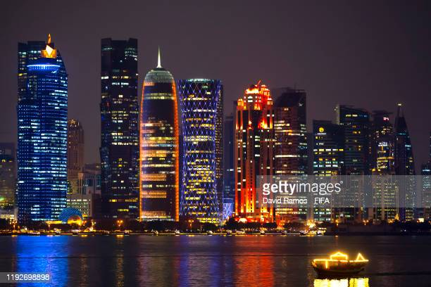 View of the skyline of Doha on December 08, 2019 in Doha, Qatar.