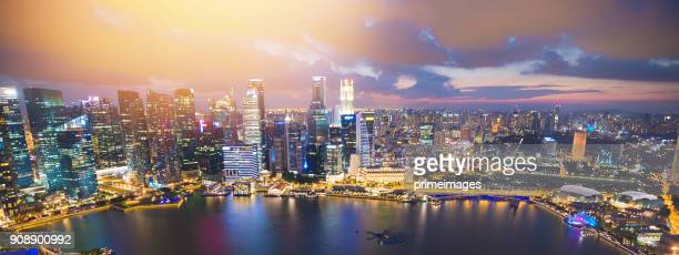 view of the skyline of singapore downtown cbd - 4k resolution stock pictures, royalty-free photos & images
