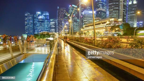 シンガポール cbd のダウンタウンのスカイラインの眺め - シンガポール文化 ストックフォトと画像