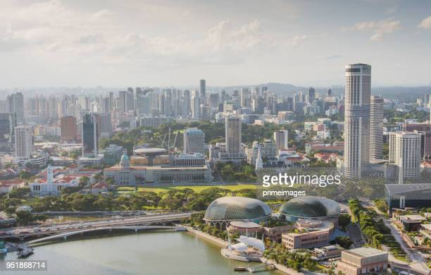 view of the skyline of singapore downtown cbd (ed) - 4k resolution stock pictures, royalty-free photos & images